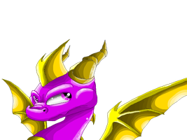 Spyro - Shading experiment by IcelectricSpyro