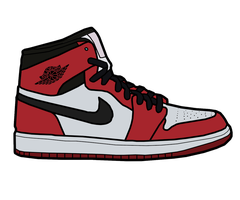 Jordan 1 'Bred' Sketch by MattisamazingPS