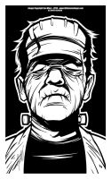 Frankenstein - Inks by Jon-Moss