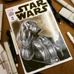 Darth Vader sketchcover commission  by Sajad126