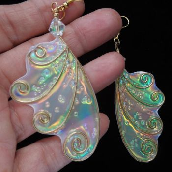 Fairy Wing Earrings Special in My Etsy Shop! by Ravenwolfslayer