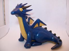 Blue and Gold Dragon by ashitx