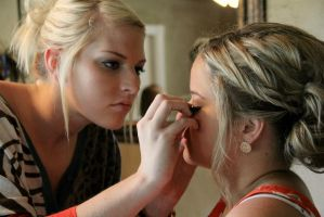 Bridesmaids Makeup-II- by SoigneuxDesespoir