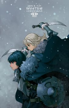 WINTER cover doodle design. by Salmon88
