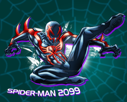Spider-man 2099 by FrancoTieppo