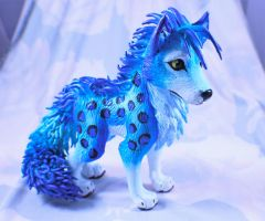 Blue Wolf Sculpture by SophieXSmith
