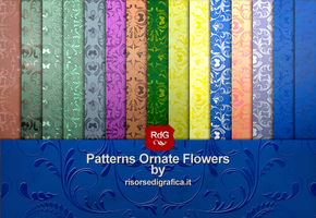 Patterns Ornate Flowers 01 Gallery by Risorse-Di-Grafica