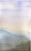 Watercolor: Valley Fog by shiprock