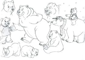 Cartoon bears 1 by UrsusArctos