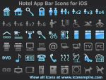 Hotel App Tab Bar Icons fo... by iconillustration49