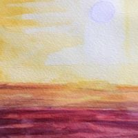 Sunset water color by wusacontong