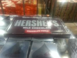 The World's Largest Hershey bar by Doofreedee