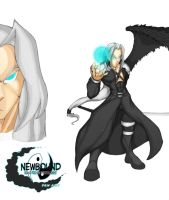 Sephiroth Fan Art  Colored (Final FAntasy VII) by Newbound