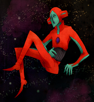 Pokeman Deoxys by Iddle-Diddle