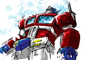 scribble Optimus by drifting-willow
