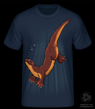 Life is an otter / Tshirt-Design / finished by Lutra75