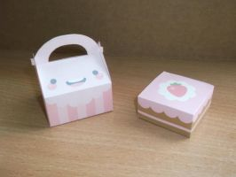 Valentine's day box and cake by serenyte