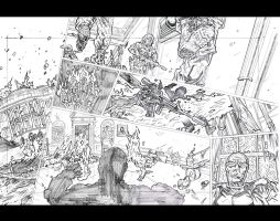 THE STARS 4 - Page 6 and 7 Pencils by KurtBelcher1