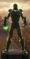 Iron Lantern (DC Universe Online) by Macgyver75
