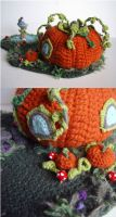 Crochet Pumpkin House 3 by meekssandygirl