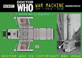 Doctor Who - War Machine by mikedaws