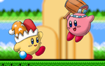 Hammer Kirby and Beam Kirby Wallpaper C: by burikillo