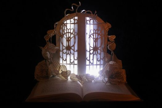 The Fairie Door Book Sculpture by wetcanvas