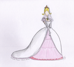 Princess Peach Wedding Dress by nhathy