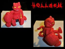 Fimo Hellboy by gothic-ballerina