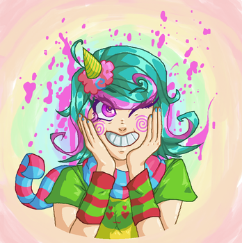 Trickster Roxy (MS Paint) by RadiaNerale
