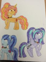 The Dazzlings as ponies by Imtailsthefoxfan