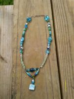 Blue crush: Blue beaded necklace by WyckedDreamsDesigns