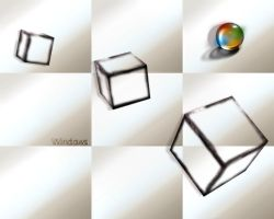 windows cube semi trasparent by ilnanny