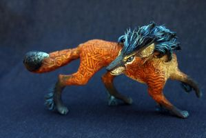 Night and Fire fox creature by hontor