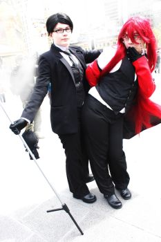 William and Grell ~ Derping by Cotton-Candy-Ninjas