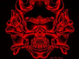 Demon Skull Red by jackthereaper