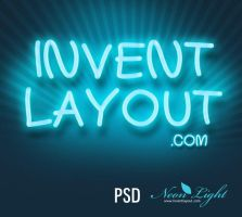 Neon Light Effect - inventlayout.com by atifarshad