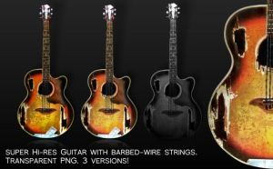 Barbed Wire Guitar by Enigma-Design