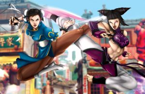 Chun Li vs Juri by jpzilla