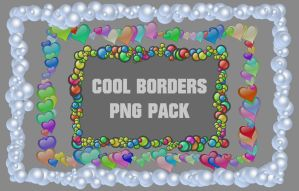 Cool borders png pack by Cevkarade