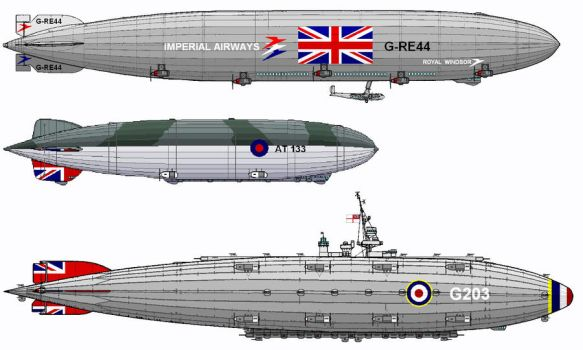 Further Fictional Airships by linseed