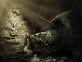 Giant Turtle's Death by PSHoudini