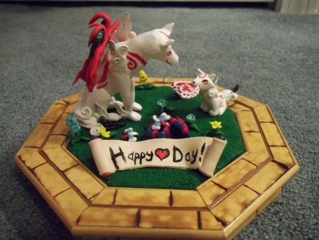 Okami Valentines Day contest entry by Krinkee