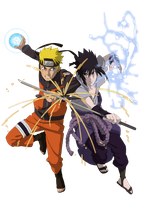 Naru VS Sasu - lineart Colored by DennisStelly