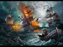 Bataille navale pirate by maxpaynt