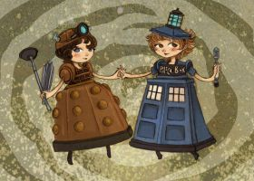 Doctor Who Cosplay Girls by theGorgonist