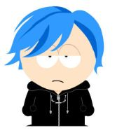 Zexion South Park by squirrely-chan