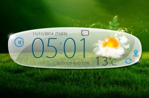 Oppo Find 5 Clock Weather HD for xwidget by jimking