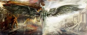 Good v Evil War in Heaven by Flockhart