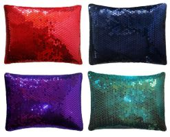 Sequin Pillows - Ameynra fashion - sparkly mood by SOFIAMETALQUEEN